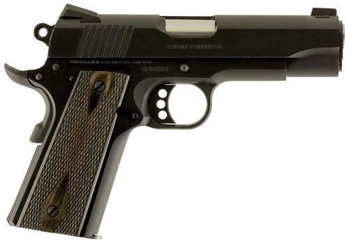 "Colt Combat Commander 9mm, 4.25"" Barrel, Blue Finish, G10 Black Cherry Grip, 9rd"