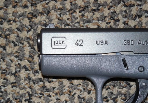"GLOCK .380 ACP MODEL 42 PISTOL IN ""TACTICAL GREY"