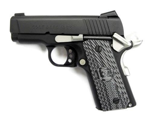 "Colt Defender 1911 45 ACP 3"" Barrel Bead Blast Finish 7rd Mag"